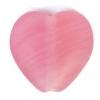 Glass Pressed Beads 10x10mm Heart Fuchsia Matt